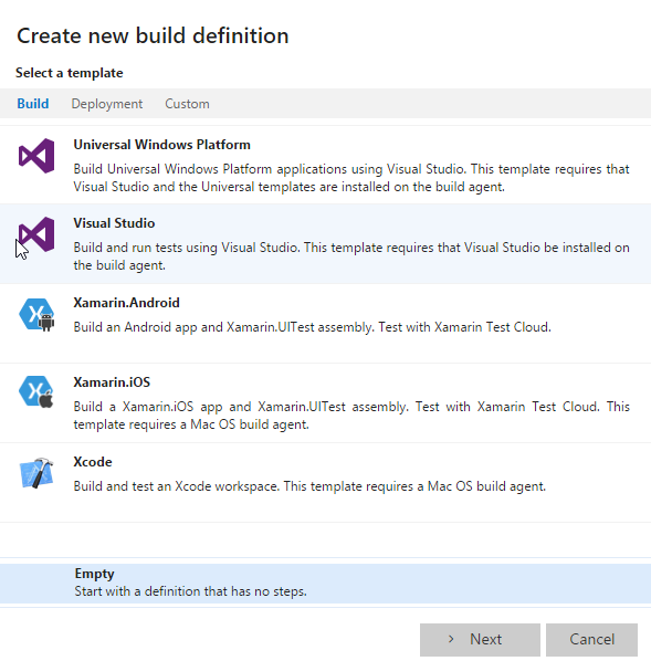 Visual Studio Team Project