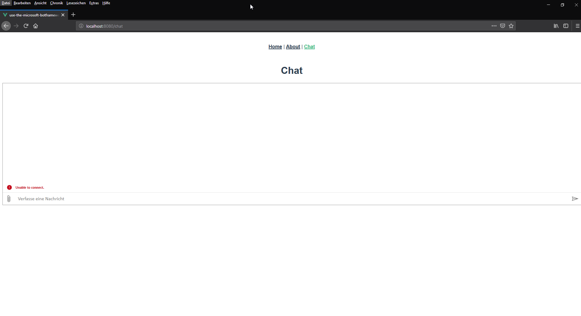 Working Chat in Browser