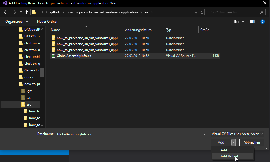 How to pre cache an XAF Winforms Application | Manuel